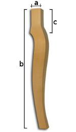 Noge za stolove od punog drveta: bukva , hrast i jasen.