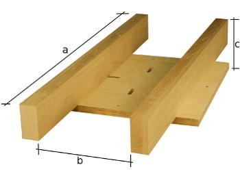 Podkonstrukcija za centralne noge.